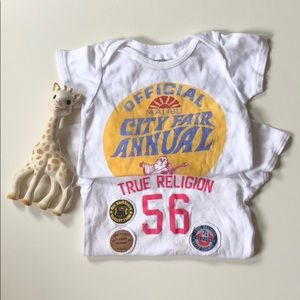True Religion | Baby Onesie Bundle | 12-18 Months